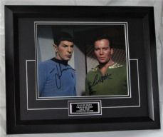 "2LNWSSTEBF LEONARD NIMOY & WILLIAM SHATNER - ""STAR TREK"" DUAL SIGNED"